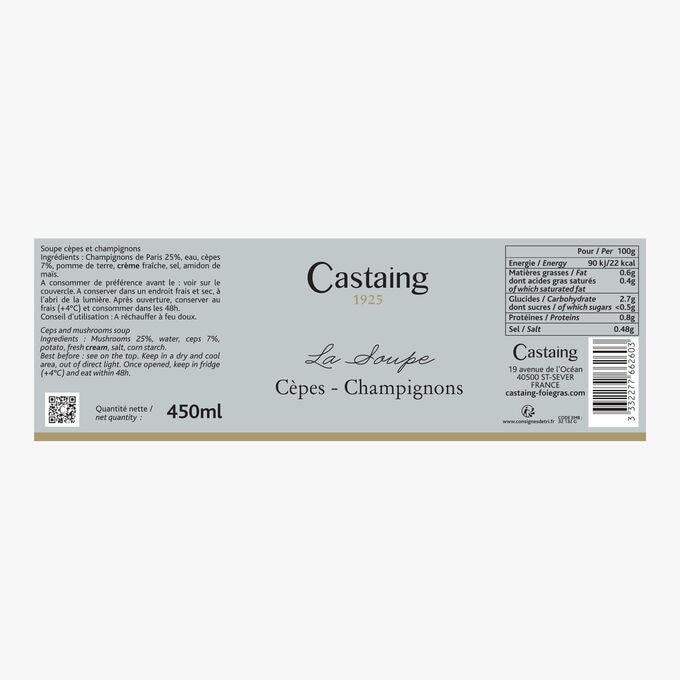La Soupe Cèpes - Champignons Castaing