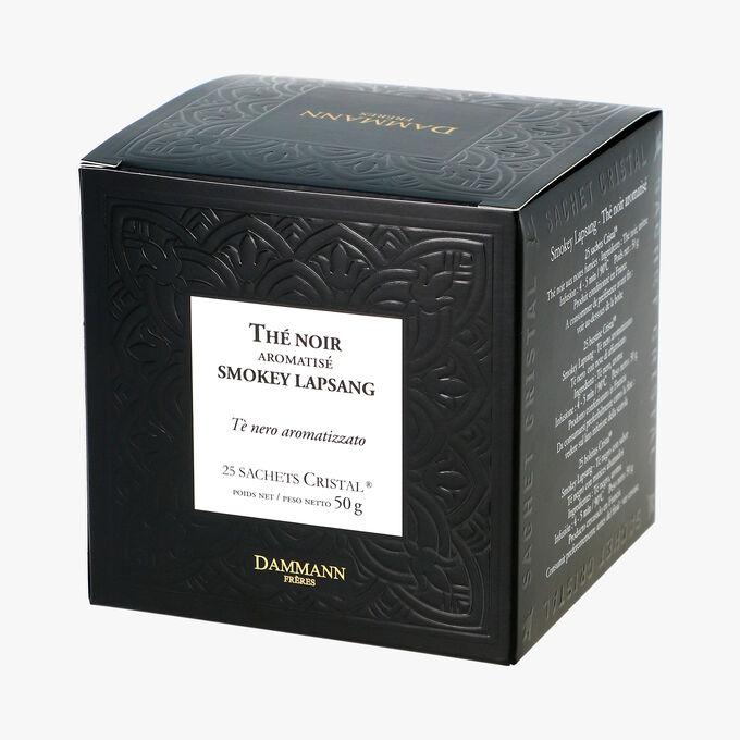 Thé noir aromatisé Smokey Lapsang - Boîte de 25 sachets Dammann Frères