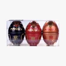 Box of 3 mini metal eggs  Maxim's