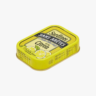 Boneless sardines in extra virgin olive oil and lemon Conserverie la Belle-Iloise