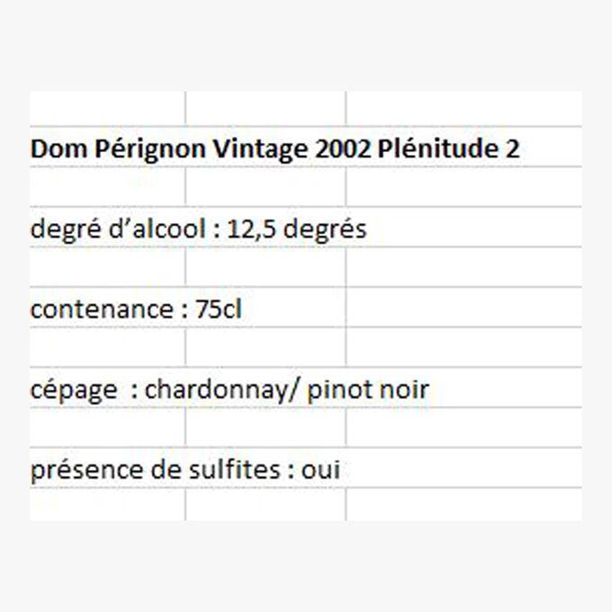 Dom Pérignon Vintage 2002 Plénitude 2 Dom Pérignon