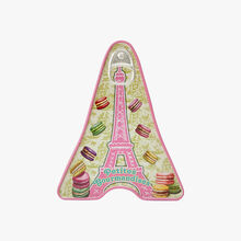 "Salted butter caramels - mini ""Eiffel Tower"" tin with macaroons La Maison d'Armorine"