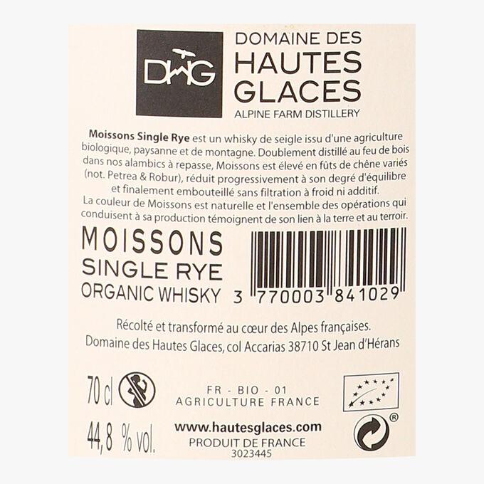 Whisky des Hautes Glaces, Moissons Single Rye Distillerie des Hautes Glaces