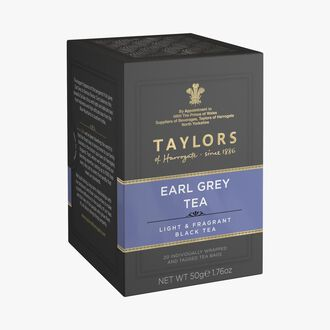 Black tea flavoured with bergamot – 20 teabags Taylor's of Harrogate