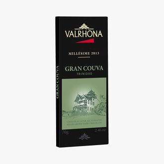 Gran Couva bar, estate dark chocolate (64 % minimum cocoa, pure cocoa butter) Valrhona