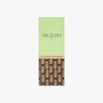 Tablette de chocolat au lait aux noisettes Angelina
