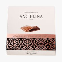 Butter biscuits coated with milk or dark chocolate Angelina