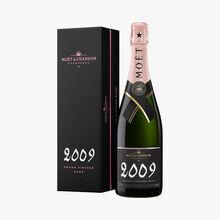 Champagne Moët grand vintage rosé 2009 en coffret Moët & Chandon
