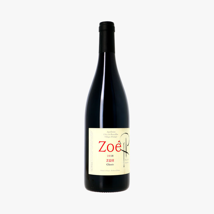 Vins Parcé Frères, Côtes du Roussillon Villages AOC, Zoé 2018 Parcé Frères