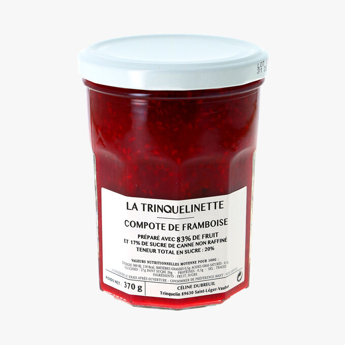 Compote de framboise La Trinquelinette