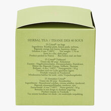 40 Sous herbal infusion - Box of 25 teabags Dammann Frères
