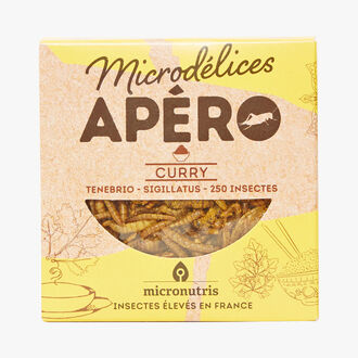 Curry-flavour appetiser insects Micronutris