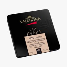 Jivara gift box, 18 milk chocolate squares (40 % minimum cocoa, pure coca butter) Valrhona