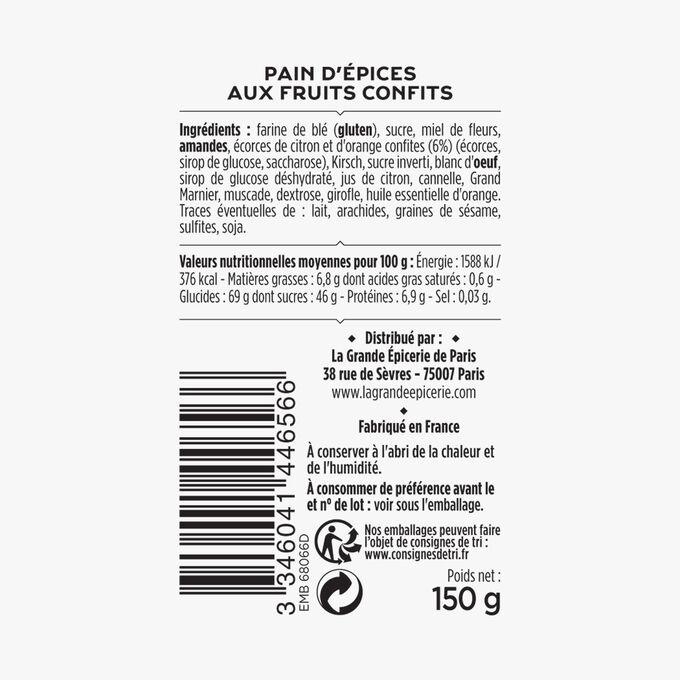 Pain d'épices aux fruits confits La Grande Épicerie de Paris