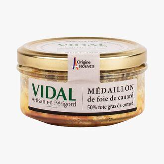 Duck foie gras medallion, 50% duck foie gras Vidal