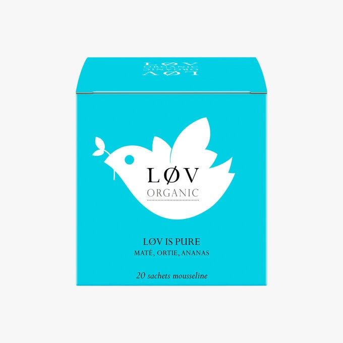 Lov is Pure Maté, Ortie, Ananas boîte de 20 sachets mousseline Lov Organic