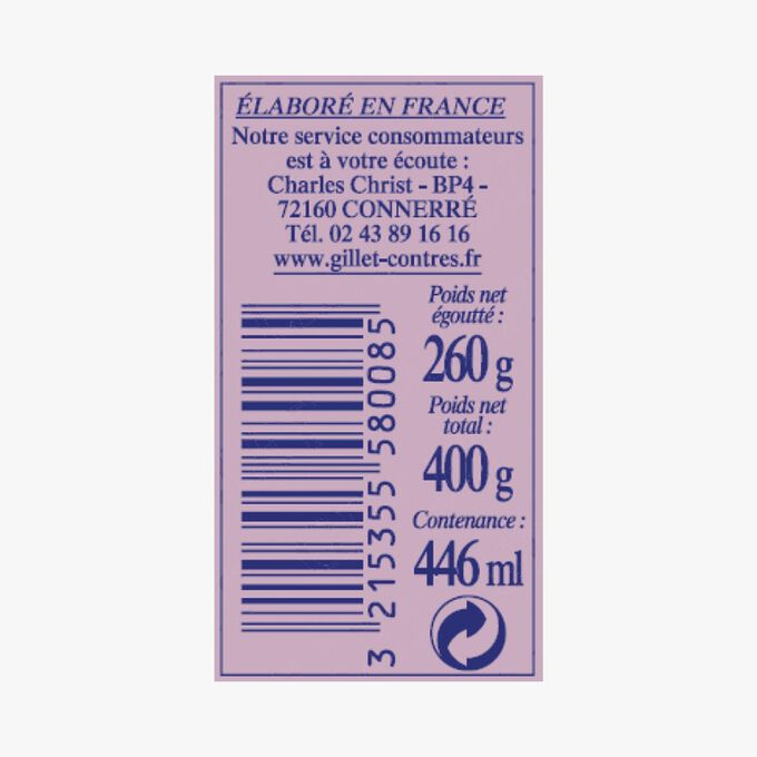 Extra-fine petits pois and Paris market carrots Gillet Contres