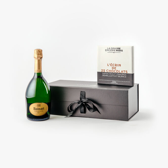 Champagne and chocolates gift box null