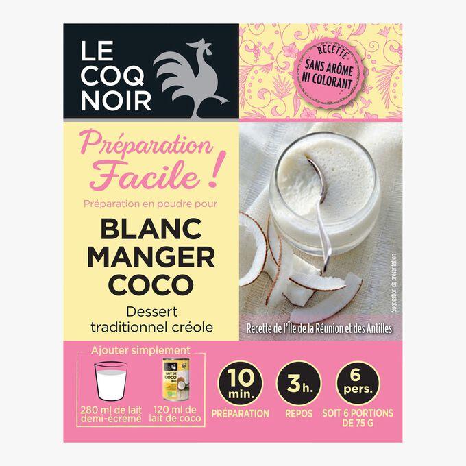 Préparation en poudre pour blanc manger coco Le Coq Noir