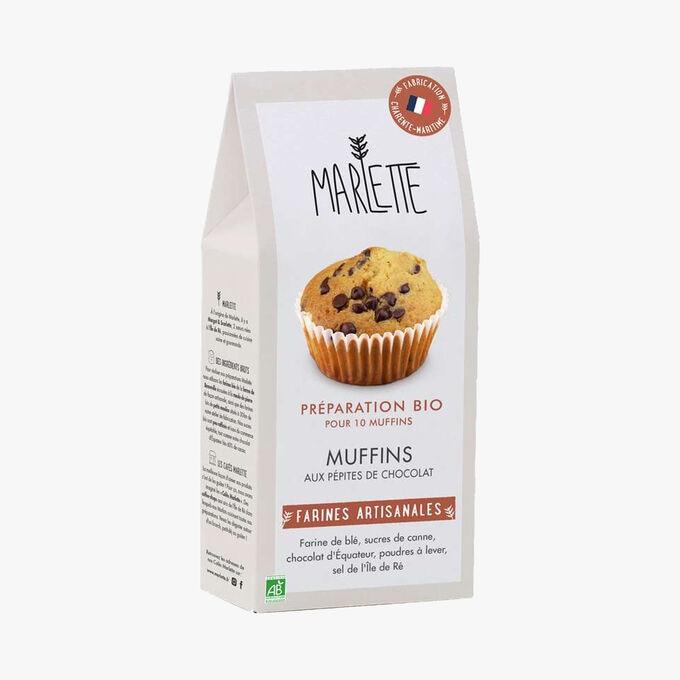 Préparation bio pour Muffins aux pépites de chocolat Marlette