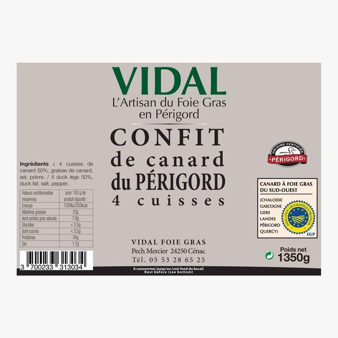 Périgord duck confit – 4 thighs Vidal