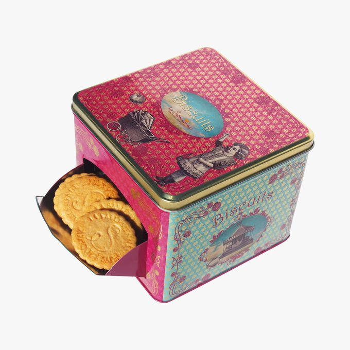 Pure butter plain shortbread cookies, serving box La Sablésienne