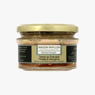 Terrine au foie gras morilles et armagnac Maison Papillon