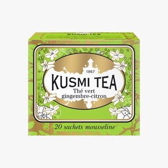 Ginger and lemon green tea, tin of 20 tea bags Kusmi Tea
