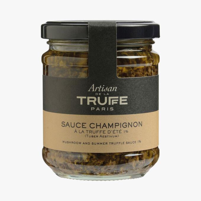 Sauce champignon à la truffe d'été 1% (Tuber aestivum) Artisan de la truffe
