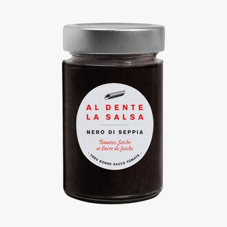 Nero Di Seppia, tomates, seiche et encre de seiche Al dente la salsa