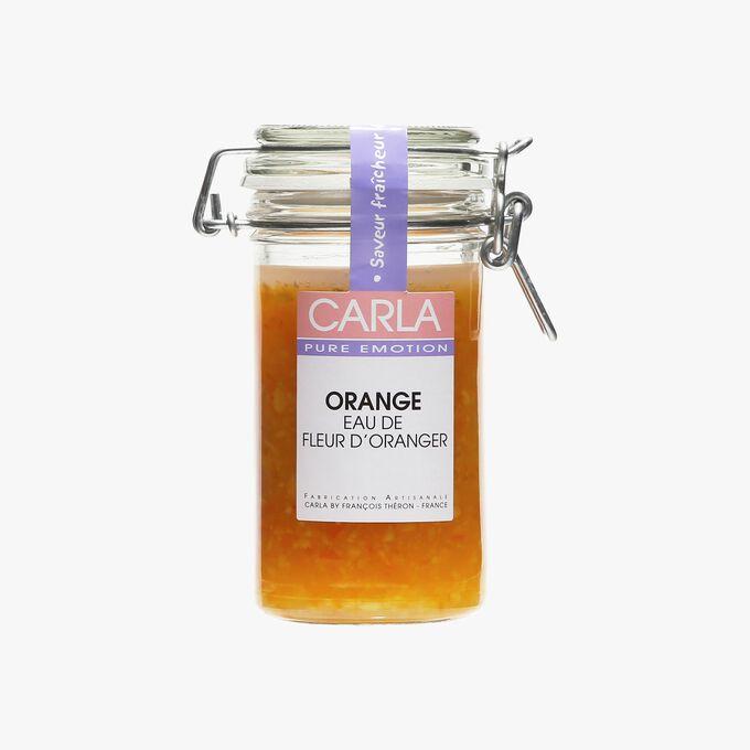 Préparation à base de fruits, orange eau de fleur d'oranger Carla