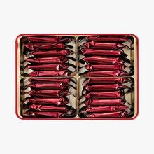 Boîte 24 fines crêpes dentelle enrobées de chocolat au lait Maxim's