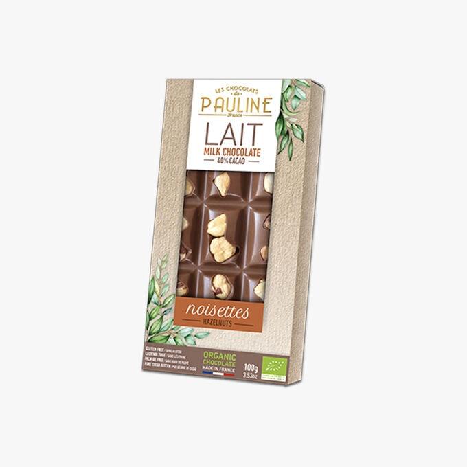 Lait 40% cacao, noisettes Les Chocolats de Pauline