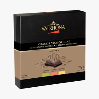 Gift box Grands Crus Origine, 52 chocolate squares Valrhona