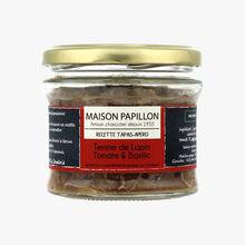 Terrine de lapin à la tomate et basilic Maison Papillon