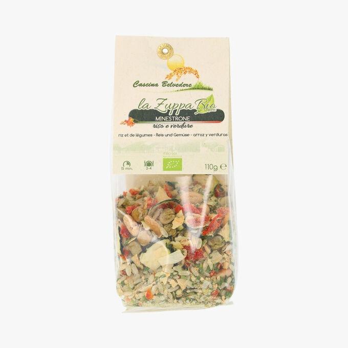 Minestrone riz et légumes Cascina Belvedere