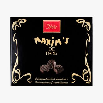 Assortiment exclusif de 12 chocolats noirs Maxim's