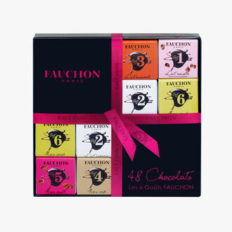 Assortiment de 48 carrés de chocolat Fauchon