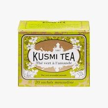 Thé vert à l'amande boîte de 20 sachets Kusmi Tea