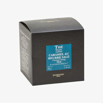 Thé Oolong parfumé Caramel au beurre salé - Boîte de 25 sachets Dammann Frères