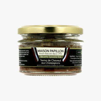 Venison terrine with mushrooms Maison Papillon