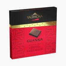Box of 18 dark chocolate squares, Guanaja Valrhona