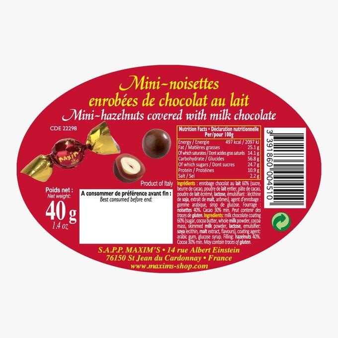 Mini noisettes enrobées de chocolat au lait Maxim's