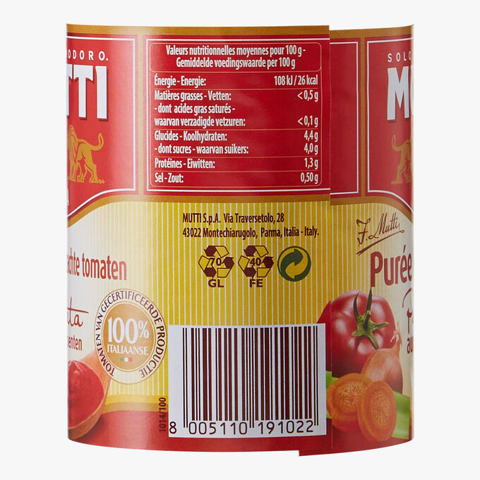 Tomato puree with vegetables Mutti