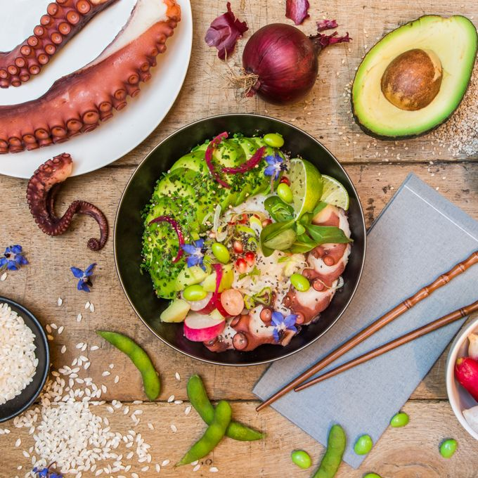 Our chefs' poke bowl, , medium title=Our chefs' poke bowl,