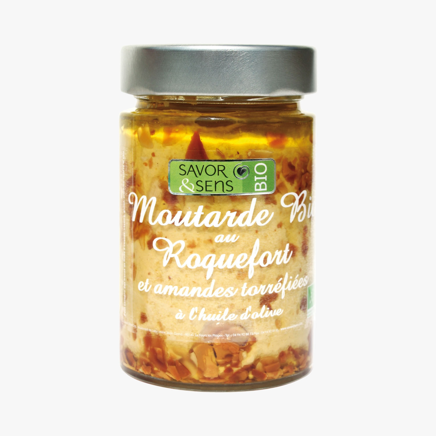 Organic mustard with Roquefort, toasted almonds and olive oil, , hi-res
