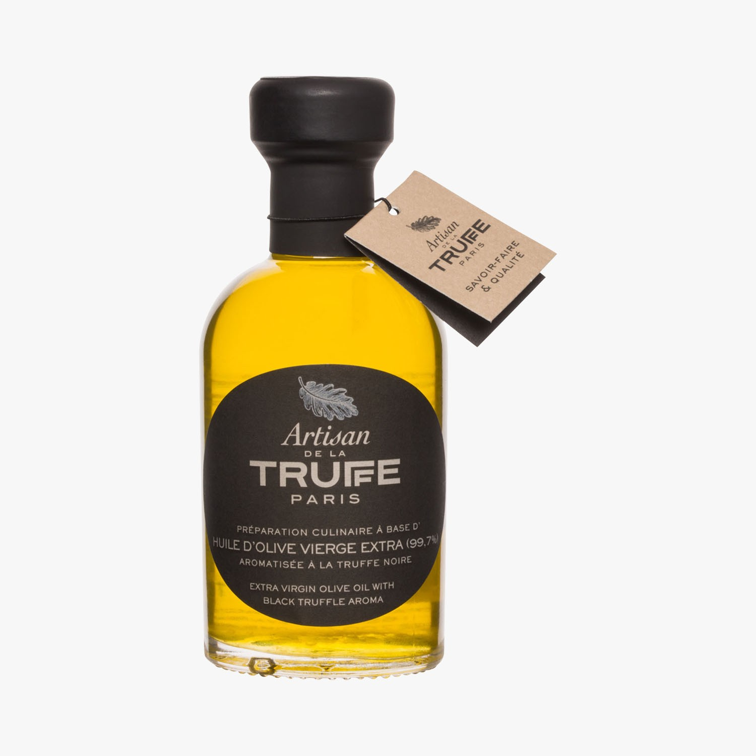 Extra virgin olive oil with black truffle flavour, , hi-res