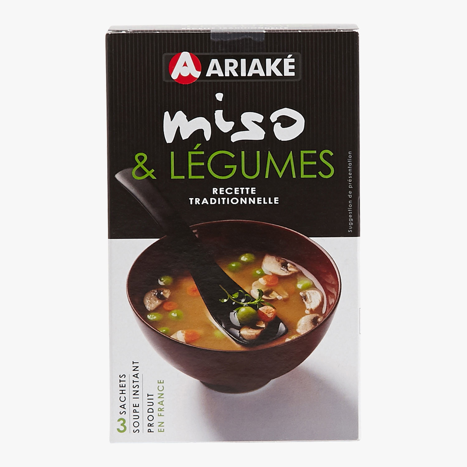 Miso & vegetable instant soup, , hi-res