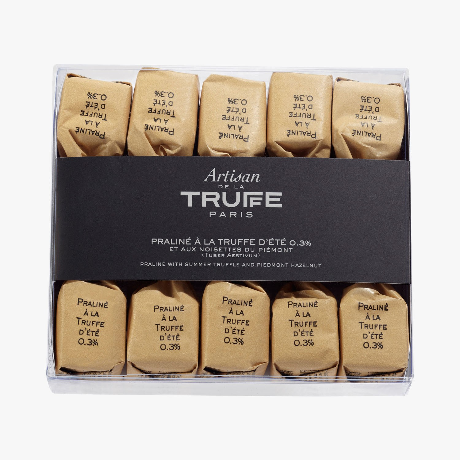 Pralines with summer truffles 0.3% (Tuber Aestivum) and Piedmont hazelnuts, , hi-res