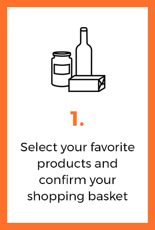 select your favorite product and confirm your basket